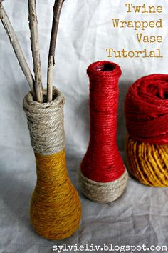 SylvieLiv: Twine Wrapped Vase Tutorial... Fall Decor DIY