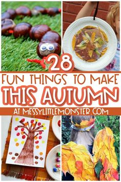 fun Autumn crafts for kids Easy Fall Crafts, Crafts For Kids To Make, Fun Crafts, Acorn Crafts, Tree Crafts, Hedgehog Craft, Craft Activities For Kids, Craft Ideas, Cool Art Projects