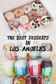 Los Angeles is one of the best and most popular cities in the world with hundreds of thousands of restaurants and cafes. But the better question is where are the best places to find desserts? If you'r (Best Food Los Angeles) Los Angeles Food, Los Angeles Travel, Los Angeles Restaurants, Dessert Places, Food Places, Best Places To Eat, Fun Places To Travel, Dessert Restaurants, California Food