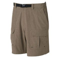 Men's Croft & Barrow® Outdoor Belted Cargo Stretch Shorts,