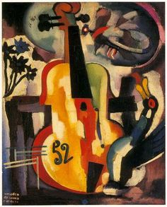 Composition with violin by Music Painting, Art Music, Abstract Expressionism, Abstract Art, Picasso, Modernisme, Georges Braque, Sculpture, Painting Inspiration