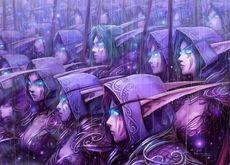 world of warcraft archers night elf elves 1366x768 wallpaper