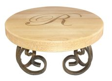 Maple 12 inch Round Server with Scroll Base #StationeryStudio