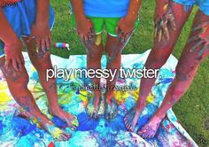 Play Messy Paint Twister   Bucket List