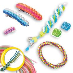 Have fun making lanyards, bracelets, keychains  more! http://www.mytoys.com/SES-Creative-Creative-Set-Scoubi-Set/Jewellery-Crafts/Beads-Jewellery/KID/com-mt.bs.ca01.18.03/2240355