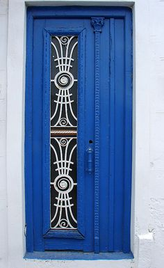 Blue doorway