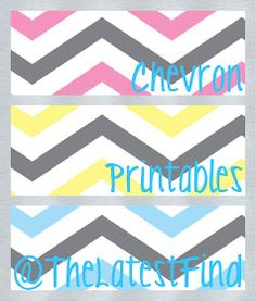 The Latest Find's Make It Create - DIY, Tutorials, Recipes, Digital Freebies: Chevron Printables