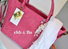 LUCY in Pink Stamped Suede from ebb & flo Italian Leather Handbags, Shoulder Bag, Pink, Fashion, Moda, La Mode, Hot Pink, Fasion, Pink Hair