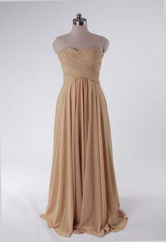 Fashionable A-line empire waist chiffon dress for bridesmaid