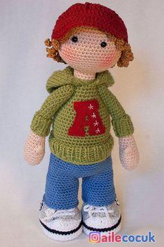 Crochet Pattern For Doll Josh Deutsch English Français Español Nederlands - Amigurumi Crochet Amigurumi, Crochet Doll Pattern, Amigurumi Doll, Amigurumi Patterns, Doll Patterns, Crochet Patterns, Crochet Ideas, Cute Crochet, Crochet Crafts