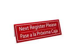 Next Register Tent Bilingual Red | Register Tents