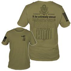 Oath OD Green T-Shirt- Nine Line Men's Short Sleeve Tee Shirt