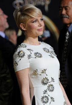 Michelle Williams Hair - I can't ever imagine it being this short again, but it's good for the look-book.