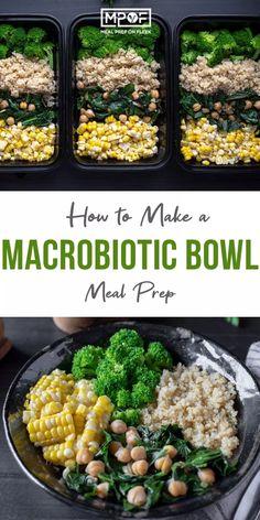 Macrobiotic Bowl – Meal Prep on Fleek™ – fitness meal prep Macrobiotic Recipes, Macrobiotic Diet, Lunch Meal Prep, Healthy Meal Prep, Healthy Eating, Keto Meal, Clean Eating, Lunch Recipes, Diet Recipes