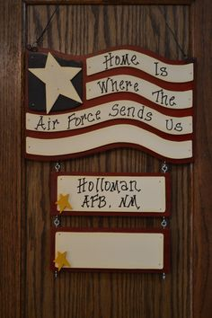 Home Is Where The Air Force Sends Us Army by CreativeTouchWood, $22.95