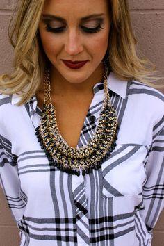 Headbands of Hope — Black + Gold Necklace