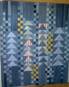 New Mens Patchwork Shirt Denim Quilts Ideas Man Quilt, Boy Quilts, Scrappy Quilts, Denim Quilts, Patchwork Quilting, Denim Patchwork, Bonnie Hunter, Quilting Projects, Quilting Designs