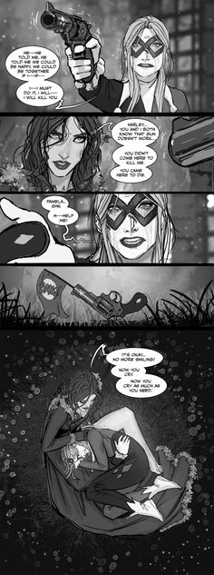 The love of Harley Quinn and Poison Ivy Marvel Dc Comics, Hearly Quinn, Gotham Girls, Dc Memes, Joker And Harley Quinn, Detective Comics, Poison Ivy, Gotham City, Teen Titans