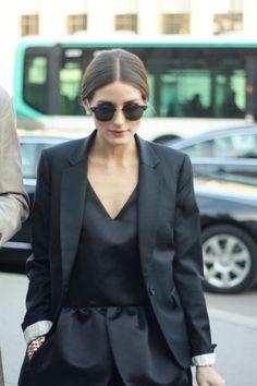 Olivia Palermo in total black