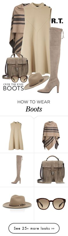 """R.T.-411 Over-The-Knee Boots"" by sopo-davituri on Polyvore featuring мода, Burberry, Derek Lam, Stuart Weitzman, Patricia Nash, Prada и rag & bone"