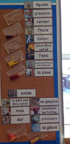 Primary French Immersion Resources - liquids and solids - grade 2 science
