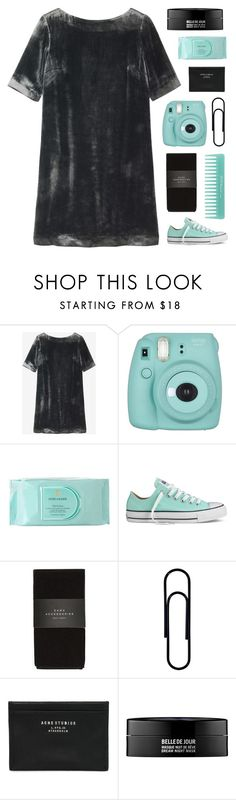 """Velvet Soft"" by amazing-abby ❤ liked on Polyvore featuring Toast, Fujifilm, Estée Lauder, Converse, Zara, Acne Studios and Kenzoki"