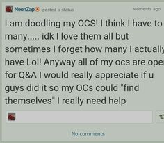 Ask The OCs AND NOW DARES! OFFICIALLY OPEN!!! by NeonZap.deviantart.com on @DeviantArt