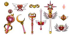 Itoe Moon's Weapons - Colored - by nads6969.deviantart.com on @DeviantArt