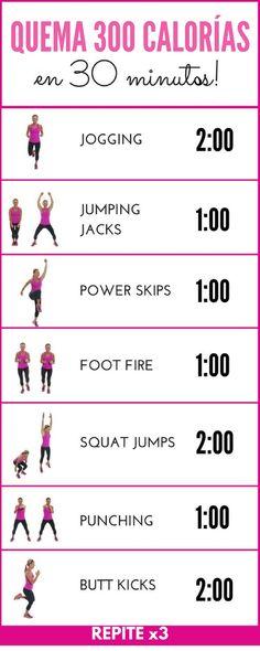 Descubre estos y otros ejercicios intensivos para quemar calorías en poco tiempo.   Rutinas de ejercicio paso a paso | Ejercicios en casa | Ejercicios para quemar grasa | #workout #rutina #ejercicio