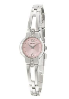 Seiko Dress Women's Quartz Watch SUJG41 Seiko. $94.92. Stainless Steel Case and Band, Push Button Release Clasp. Precise Japan Quartz Movement. Hardlex Mineral Crystal, Swarovski Accents, Silver Tone Hands and Markers. Water Resistant - 30M. Case Size: 19.7mm Diameter, 5.3mm Thickness