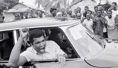 Citroen DS et Mohamed Ali (Cassius Marcellus Clay Jr.), Kinshasa, Zaire 1974
