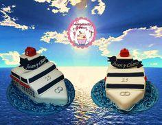 Tarta crucero bodas de plata 25 años. Horneando Ideas. Cake, Desserts, Ideas, Creativity, Silver Anniversary, Cruise, Clay, Pies, Tailgate Desserts