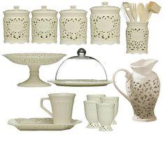 13 Piece Ceramic Lace Kitchen Accessories Set - £110.00 : Prime ...  Of course, UK never US!!!