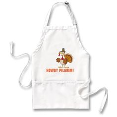 Greetings from the Thanksgiving Day Turkey Apron