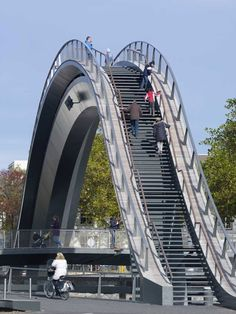 Melkweg Bridge, Purmerend, The Netherlands. Only for pedestrians; they have a great view over the old and new city