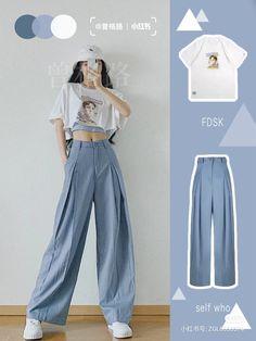 Korean Girl Fashion, Korean Fashion Trends, Ulzzang Fashion, Korean Street Fashion, Kpop Fashion Outfits, Girls Fashion Clothes, Korean Casual Outfits, Korean Outfit Street Styles, Retro Outfits