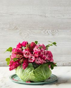 How To Make a Mother's Day DIY Cabbage Centerpiece | Southern Living