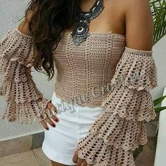 Off shoulder boho top bell sleeve crochet coachella gipsy hippie lace up fashion ✨ ❤ lacing up fastens at back SIZE CHART Choose your size accordingly to your breast and hips measure, the choose matching size in drop menu. XXS - bust/hips up to 30-32,5 inches(76-83cm) XS - bust/hips up