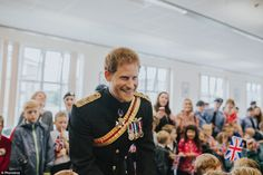 This photo of Prince Harry was taken byBrook Rose O'Brien while he was talking to school ... #princeharry
