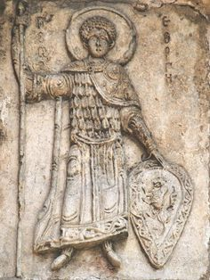 St. George, Relief of St. George's Cathedral, Yuriev Polsky, Russia, 1234