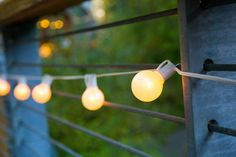 Spruce up that outdoor, backyard space with string lights, great for summer nights! http://www.hgtv.com/design-blog/outdoors/dress-up-your-outdoor-space-with-string-lights