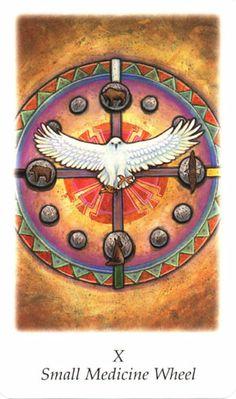 Small Medicine Wheel (Wheel of Fortune) - Vision Quest Tarot