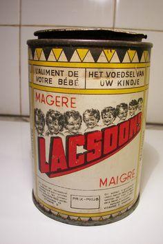 Lacsoon milk tin / Bote de leche infantil - Etablissements J.B Gabriels – Bruxelles -1940