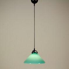 Lampada De Majo a soffitto; vetro soffiato. Buone condizioni; presenta piccoli segni di usura.