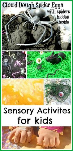 FUN Halloween sensory activities for kids from Growing a Jeweled Rose. My son would LOVE this.