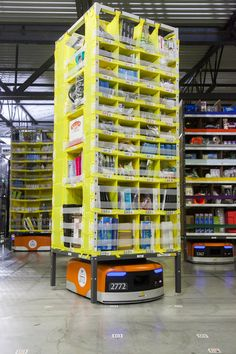 Fulfillment centers, robotic logistics, and the future of retail Store Warehouse, Warehouse Design, Logistics Supply, Warehouse Solutions, Supply Chain Solutions, Educational Robots, Real Robots, Robotic Automation, Fulfillment Center
