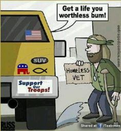 Homeless Vet look at this what are people think are vets are