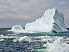 """Newfoundland: another iceburg floating in """"Iceburg Alley"""" Ice Storm, Natural Earth, Covered Bridges, Antarctica, Newfoundland, Mother Earth, Places To Go, Around The Worlds, Landscape"""