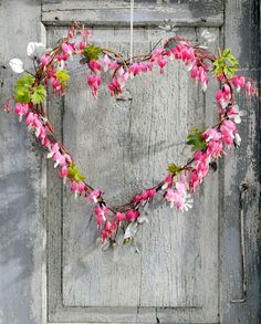 Heart Dicentra- flowers of the bleeding heart..garland of leaves