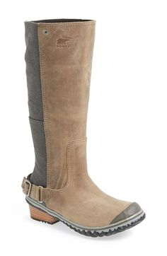 These could come in handy... SOREL+'Slim'+Waterproof+Tall+Boot+(Women)+available+at+#Nordstrom
